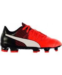 Puma Evo Power 4.3 FG Football Boots Childrens, red/black
