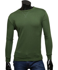 Re-Verse Klassisches Langarmshirt Unifarben - Khaki - S