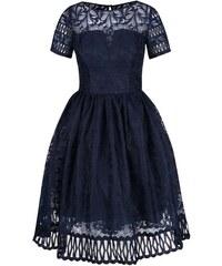 Tmavě modré šaty s krátkými rukávy Chi Chi London Sheridan