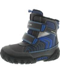 Geox Chlapecké zateplené kotníkové boty B Gulp B Boy Abx - šedo-modré