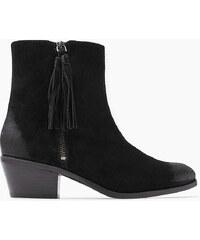 Esprit Semišové boty s ozdobnými střapci