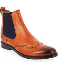 Boots Femme Melvin et Hamilton en Cuir Orange