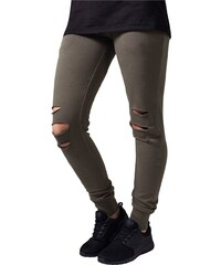 Urban Classics Ladies Cutted Terry Pants Olive TB1304