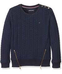 Tommy Hilfiger Mädchen Sweatshirt Cable Quilted Cn Hwk L/s