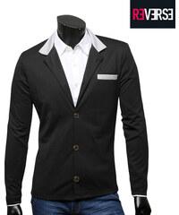 Re-Verse Slim Fit-Blazer mit Kontrast-Details - S
