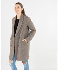 Manteau droit drap de laine Beige, Femme, Taille 36 -PIMKIE- MODE FEMME