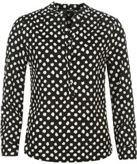 Full Circle mystify Circle Print Blouse Lds72 Black