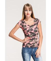 SHOPHYL Maskáčové tričko, růžová
