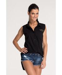 SHOPHYL Air Force košilová halenka, černá