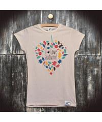 PANDEMIC Dámské tričko s potiskem Podzim: I love autumn