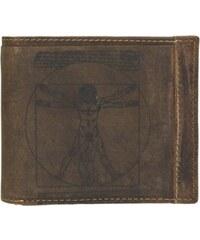 Lagen Pánská hnědá kožená peněženka Brown ADPW5