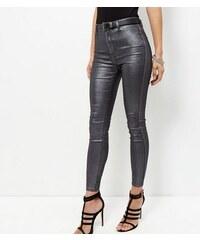 New Look Beschichtete superweiche Skinny-Jeans, schwarz