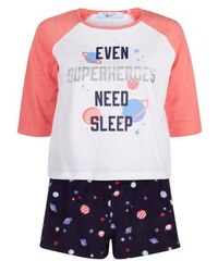 "New Look Teenager – Pyjama-Set mit dem Aufdruck ""Even Superheroes Need Sleep"""