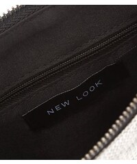 New Look Silberfarbene Pailletten-Umhängetasche