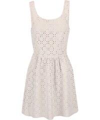Béžové šaty s perforovaným vzorem ONLY Lola