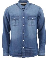 Modrá džínová košile !Solid Kegan