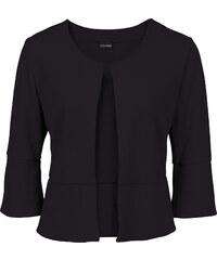 BODYFLIRT Boléro en jersey crêpe noir manches 3/4 femme - bonprix