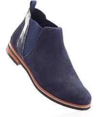 bpc selection Bottines confortables en cuir bleu chaussures & accessoires - bonprix