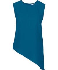 BODYFLIRT Top à base asymétrique bleu sans manches femme - bonprix