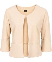 BODYFLIRT Boléro en jersey crêpe beige manches 3/4 femme - bonprix