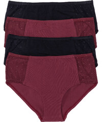bpc selection Lot de 4 culottes rouge lingerie - bonprix