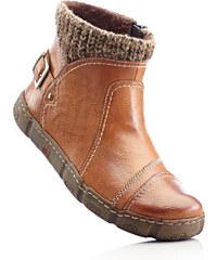 bpc selection Bottines confortables avec contour en maille gris chaussures & accessoires - bonprix