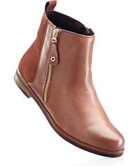 bpc selection Bottines confortables en cuir marron chaussures & accessoires - bonprix
