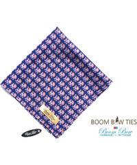 Boom Bow Fialový kapesníček s ornamentem