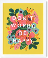 RIFLE PAPER Co. DON´T WORRY, BE HAPPY print