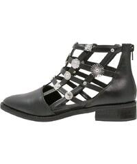 Eeight RAIN Boots à talons black/silver