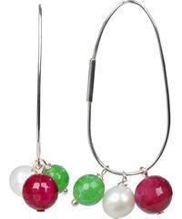 JwL Jewellery Náušnice 4v1 - s výměnnými přívěsky JL0023