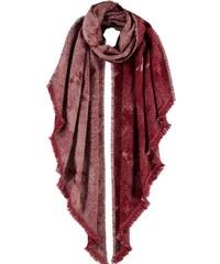 FRAAS Schal mit schrägen Kanten und geometrischem Muster in rot