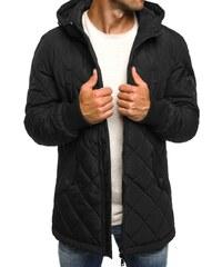 J. Style Moderní černá podzimní bunda pánská J.STYLE 3109