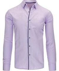 Elegantní společenská pánská košile fialová