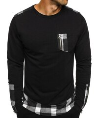 Athletic Moderní kostičkované triko s dlouhým rukávem černé ATHLETIC 758