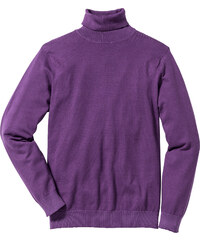bpc selection Rollkragenpullover Regular Fit langarm in lila für Herren von bonprix