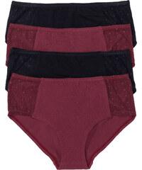 bpc selection Panty (4er-Pack) in rot für Damen von bonprix