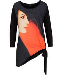 BODYFLIRT Knoten-Shirt 3/4 Arm in schwarz für Damen von bonprix