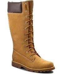 Kozačky TIMBERLAND - Classic Tall Lace U 83980 Asphl Trl Cls Tall Wh Whea