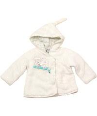 Bugga Dětský chlupatý kabátek s kapucou - béžový
