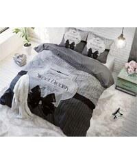 Sleeptime Parure housse de couette 140x200/220 cm + 1 taie d'oreiller 60x70 cm Sweet Dreams gris - 100% coton