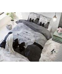Sleeptime Parure housse de couette 240x200/220 cm + 2 taies d'oreiller 60x70 cm Sweet Dreams gris - 100% coton