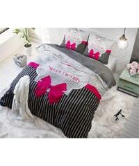 Sleeptime Parure housse de couette 200x200/220 cm + 2 taies d'oreiller 60x70 cm Sweet Dreams rose - 100% coton