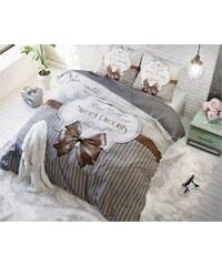 Sleeptime Parure housse de couette 140x200/220 cm + 1 taie d'oreiller 60x70 cm Sweet Dreams taupe - 100% coton
