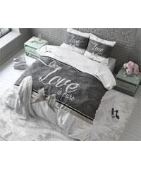 Sleeptime Parure housse de couette 240x200/220 cm + 2 taies d'oreiller 60x70 cm Pure Love blanc - 100% coton