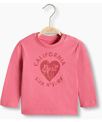 Esprit T-shirt à manches longues en coton bio