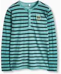 Esprit T-shirt à col tunisien vintage, 100 % coton