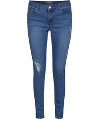 Světle modré skinny džíny s odrbaným efektem Dorothy Perkins