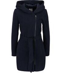 Tmavě modrý kabát s kapucí Vero Moda Joyce Daisy