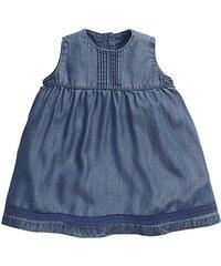 Mamas & Papas Baby-Mädchen Kleid and Pintuck Dress Blue
